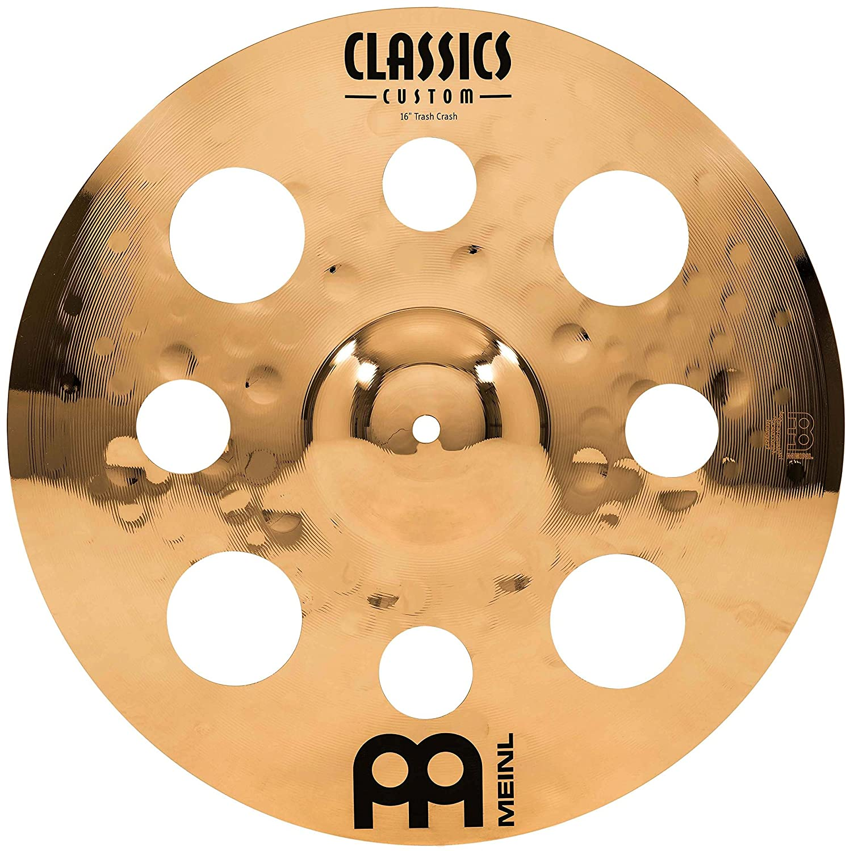 Meinl Cymbals CC16TRC-B Classics Custom Serie 40, 64 cm (16 Zoll) Trash Crash Brilliant Finish Becken
