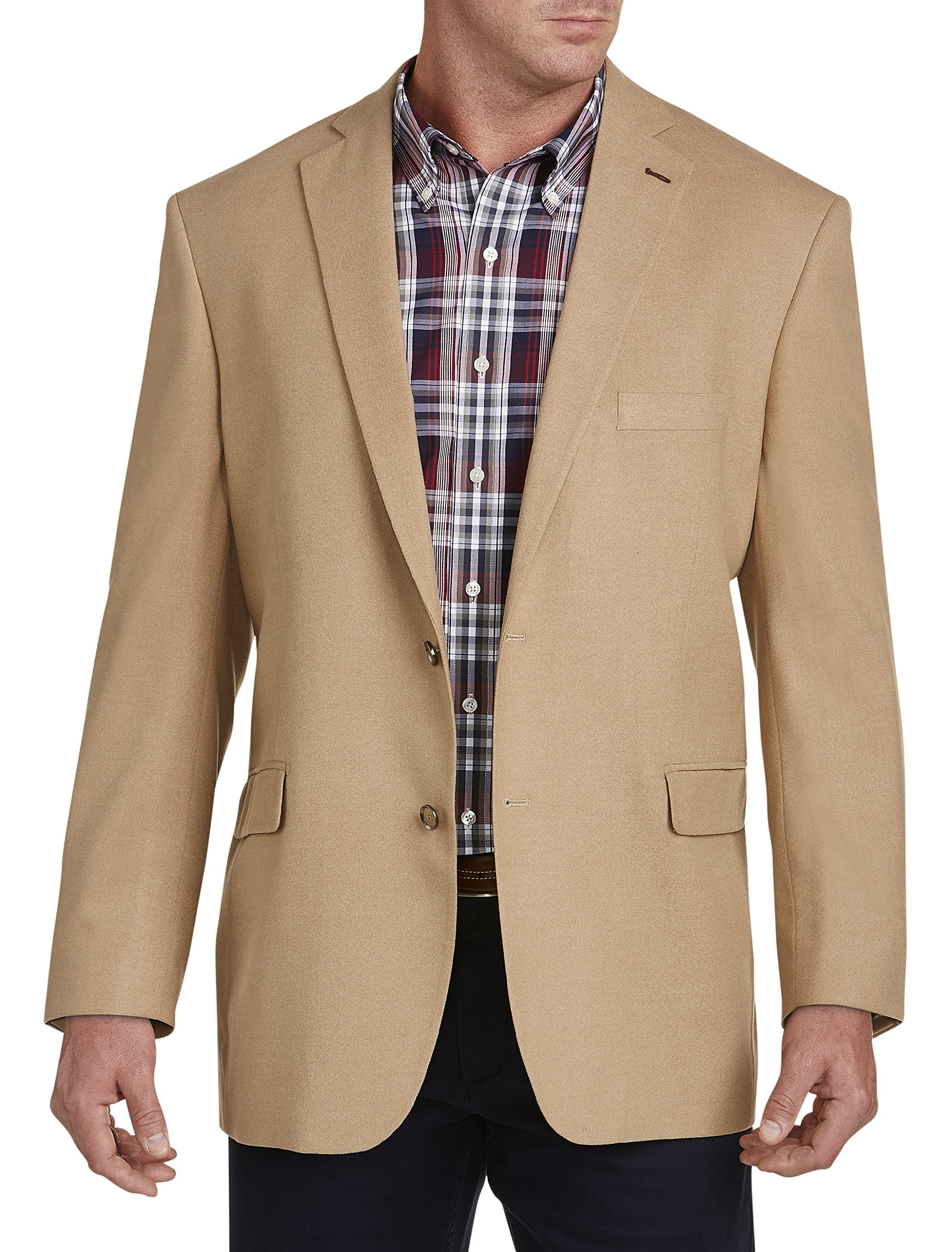 Oak Hill DXL Big and Tall Flannel Jacket Relaxer Sport Coat, Camel 4XL