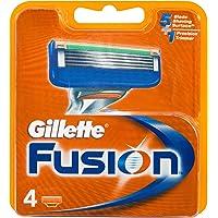 Gillette Fusion Manual Men's Shaving Razor Blade Refill 4 Pack, Mens Fusion Razors / Blades