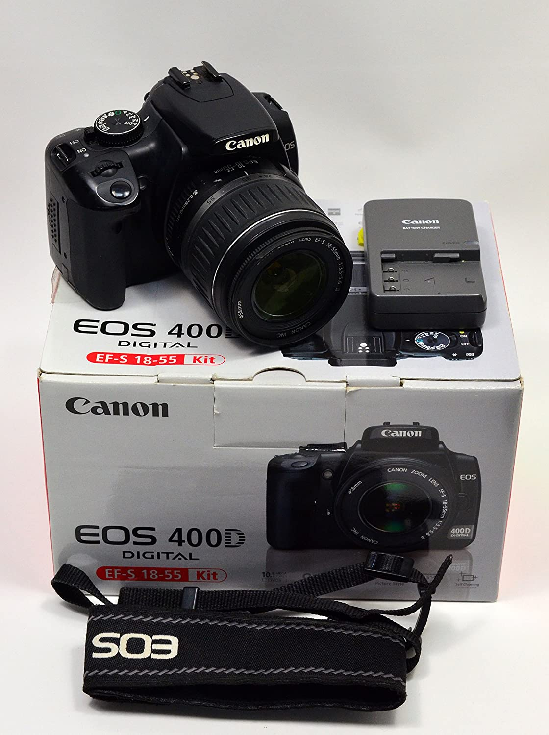 Canon Eos Kiss X Rebel Xti Eos 400d 10 Mp Cmos Aps C Digital Slr Camera With 2 5 Inch Lcd Ef S 18 55mm F 3 5 5 6 Lens
