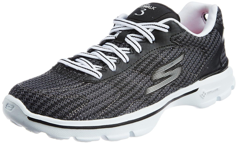 Skechers GO Walk 3 FitKnit Damen Sneakers  35 EU|Schwarz (Bkw)