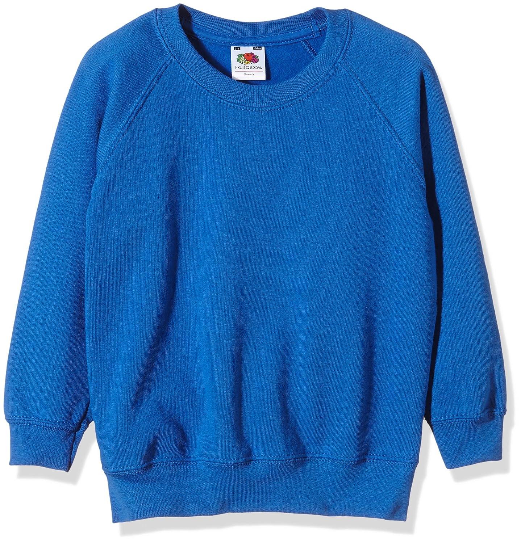 Fruit of the Loom Unisex Kids Raglan Classic Sweater