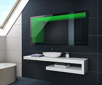 Beau Miroir Salle De Bain Lumineux LED D Effet Sur Mesure Amazon - Miroir salle de bain lumineux sur mesure