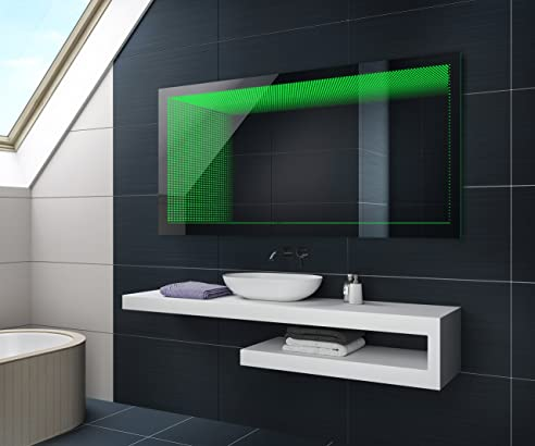 Spiegel LED Badezimmerspiegel Beleuchtung 3D Tieffeneffekt nach ...
