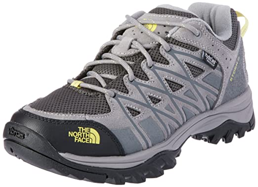 The North Face Women's Storm III Waterproof Hiking Shoes - Darkgull Gray and Chiffon Yellow - 8.5 c7tnx9