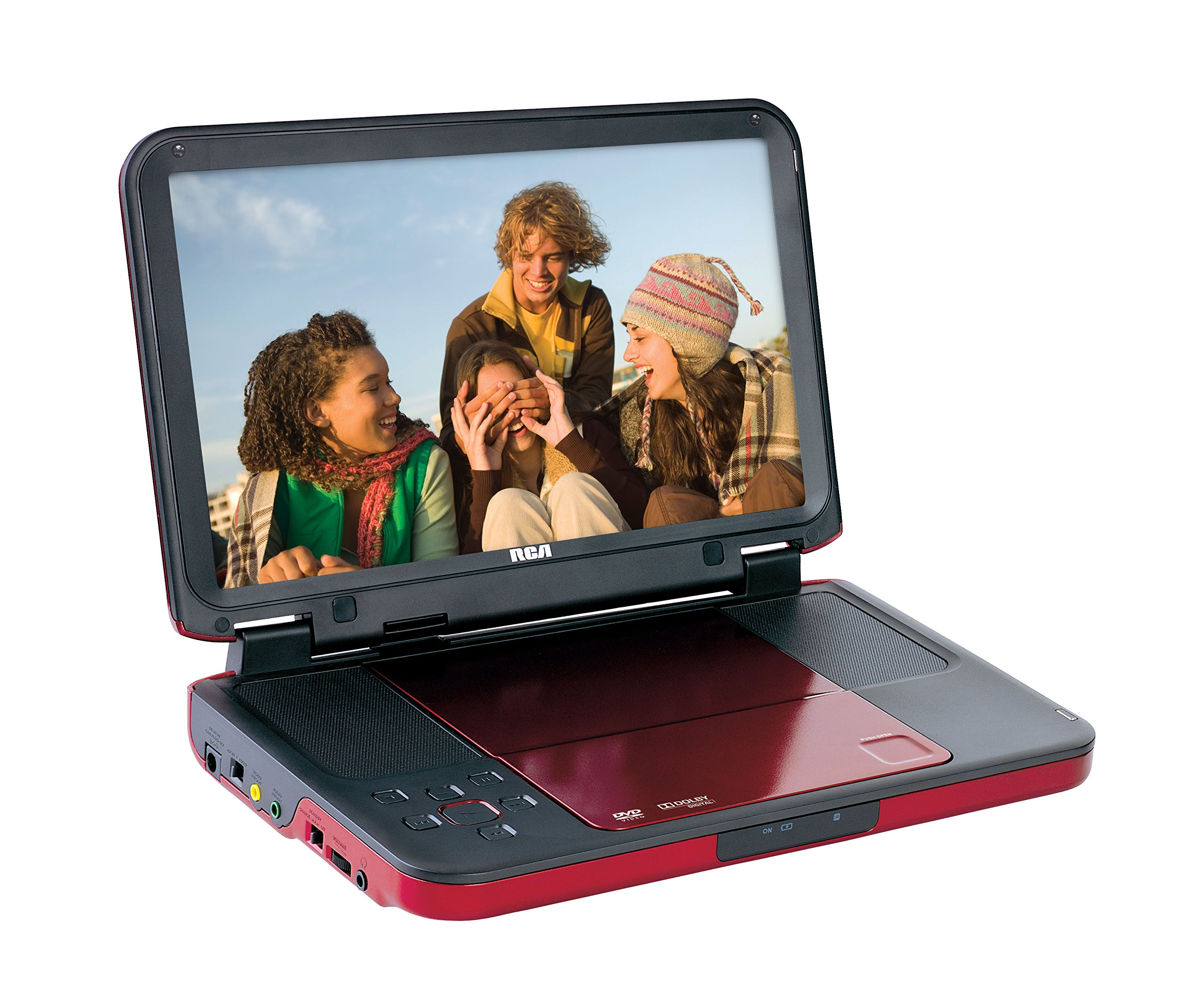 RCA (DRC6331R) Portable DVD Player - 10'' LCD Screen (Red)