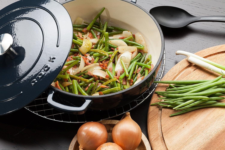 lave-vaisselle// Poignées ergonomiques CookCasserole//Fonte de haute qualité Ø 25 cm//3,1L //adaptés pour tous types de cuisson y compris linduction et barbecue