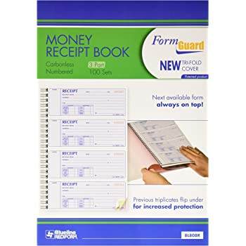 amazon com rediform formguard money receipt book 2 75 x 7 inch