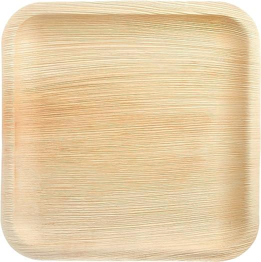 The Good Plate - Platos cuadrados de hoja de palma de Areca (25 ...
