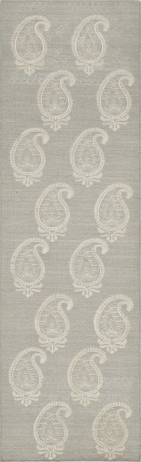 Momeni Rugs LACE0LAC-1SVL5080 Lace Collection, Hand Woven Flatweave Transitional Area Rug, 5' x 8', Silver