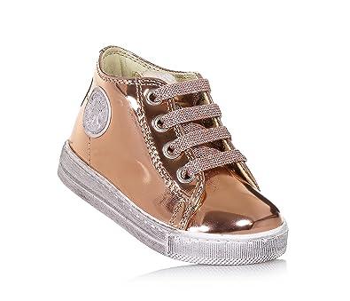 Falcotto Rosa Schuh mit Schnürsenkeln aus Leder mit