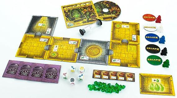 Queen Games 60901 - Juego de Mesa Escape: La maldición del Templo: Amazon.es: Juguetes y juegos