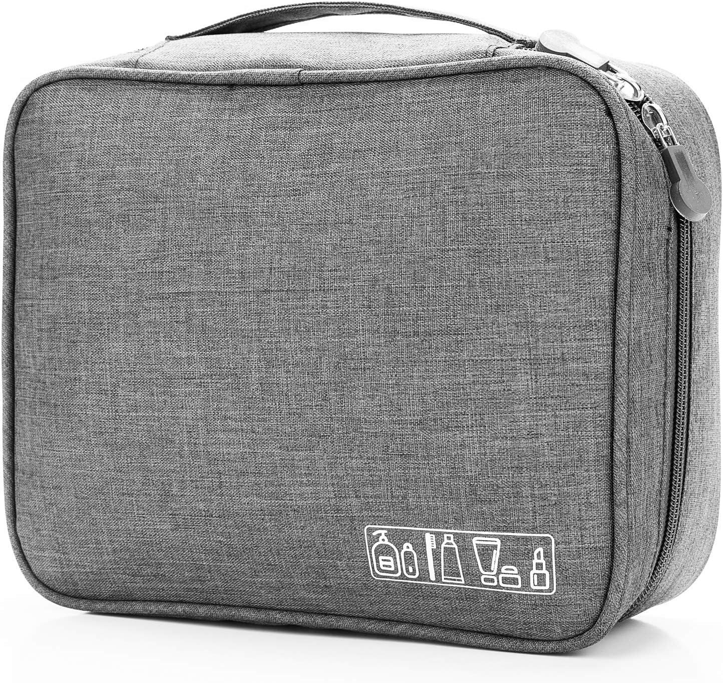 gris trousse de maquillage /étanche organiseurs de voyage trousse de maquillage portable sac de rangement pour femmes hommes Trousse de maquillage