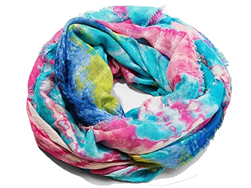 DESIGUAL – Pashmina foulard donna rettangolare soft landscape 72w9wf2 celeste