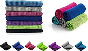 "Cooling Towel for Instant Relief - Cool Bowling Fitness Yoga Towels 40""x12"" Use as Cooling Neck Headband Bandana Scarf,Stay Cool for Travel Camping Golf Football &Outdoor Sports"
