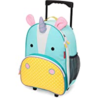 Skip Hop Zoo Kid Rolling Luggage, Eureka Unicorn