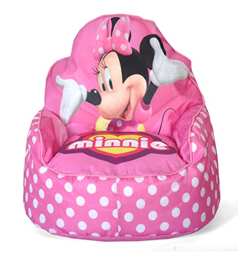 Remarkable Disney Minnie Mouse Toddler Bean Bag Sofa Chair Machost Co Dining Chair Design Ideas Machostcouk