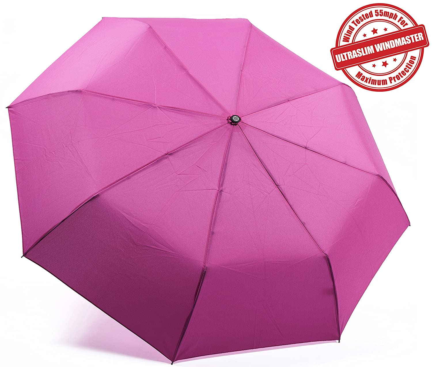 Kolumbo Unbreakable Windproof Umbrellas Tested 55 MPH BEWARE of Knockoffs Innovative & Patent Pending, Auto Open Close, Won't Break If Inverted, Durability Tested 5000 Times