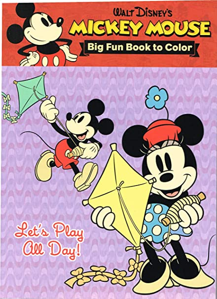 Amazon.com: Disney Vintage Mickey Mouse And Minnie Mouse Coloring Book