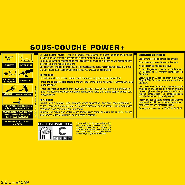 Sous Couche JULIEN Power + Blanc Mat 2,5L: Amazon.fr: Bricolage