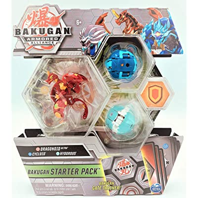 Bakugan Armored Alliance Starter Pack S2 - Pyrus Dragonoid, Collectible Transforming Creatures, for Ages 6 & Up: Toys & Games