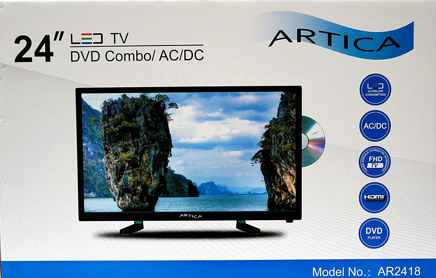 Amazon.com: Artica AR2418 24-Inch HD LED TV with DVD Combo (Black ...