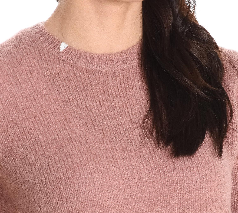 SUN 68 Damen 2726204 Rosa Wolle Pullover: : Bekleidung