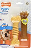 Nylabone Dura Chew and Flexi Bone Wolf Puppy Dog Chew Toys, Combo Pack