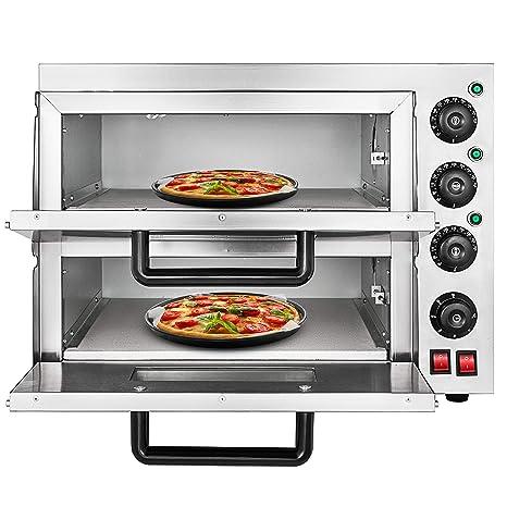 Moracle Horno de Pizza Eléctrico de 3KW Horno para Pizza con ...