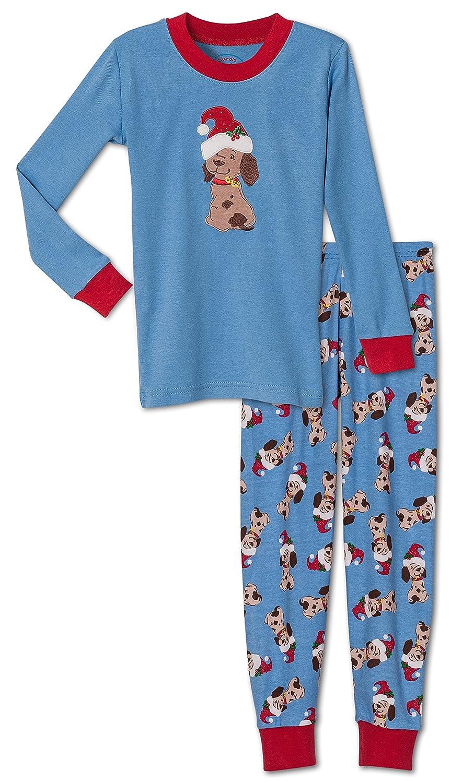 Sara's Prints Unisex, Christmas Puppy 2-Piece Pajama, Kids Size 10 Sara' s Prints Unisex