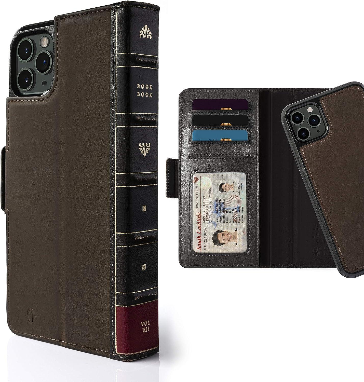 Twelve South Bookbook Für Iphone 11 Pro Max 3 In 1 Handyhülle Aus Echtleder Klapphülle Mit Standfunktion Kartenfächern Und Separater Magnetischer Schutzhülle Braun Elektronik