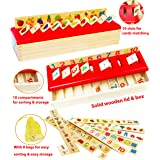 TOWO Wooden Sorting Toys for Baby -Sorting Box for Category Objects Picture Matching Game Puzzle 1 Year Old Baby- Montessori