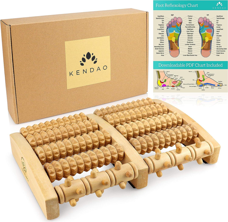 KENDAO Masajeador de pies de madera 100% Ecológico y natural ...