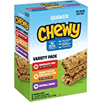 Deals on 58-Count Quaker Chewy Granola Bars 3 Flavor Variety Pack