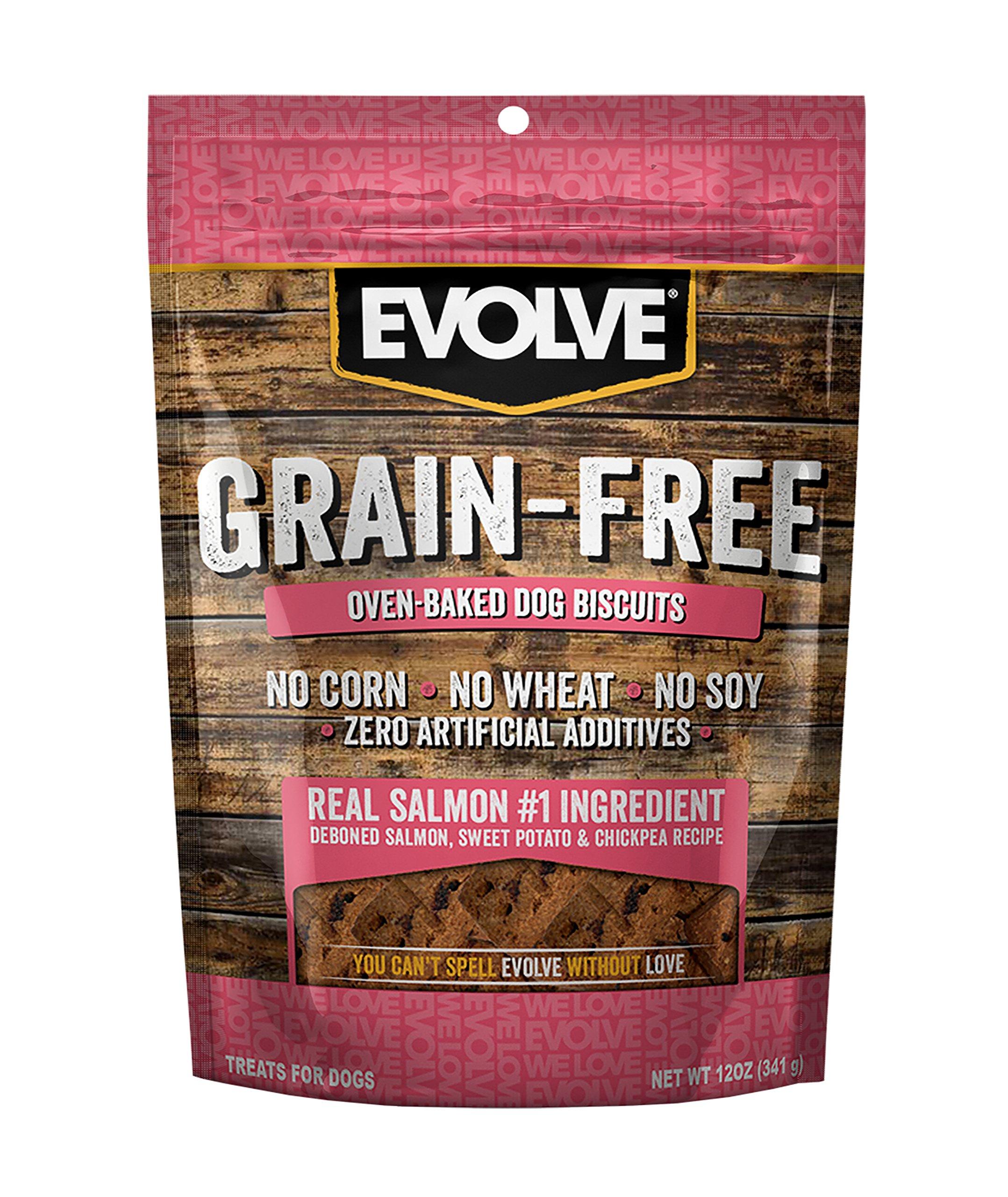 Evolve Oven Baked Grain Free Deboned Salmon Biscuits, 12oz