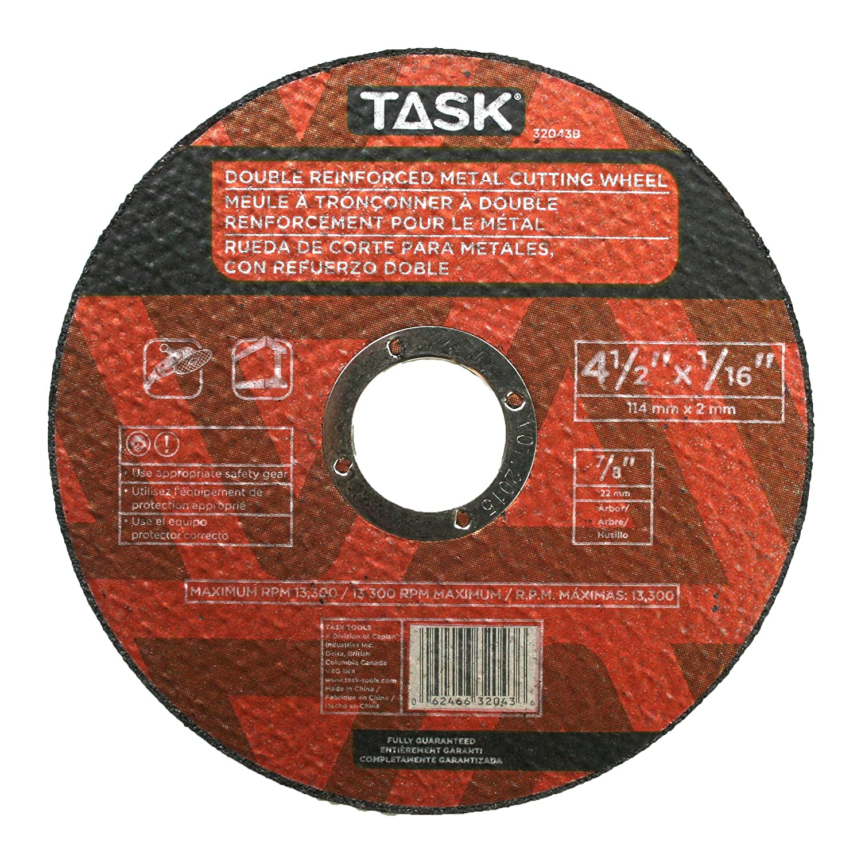 Task Tools 7//8-Inch Arbor LCM Team Task Tools 32043B 4-1//2-Inch by 1//16-Inch Metal Cutting Wheel