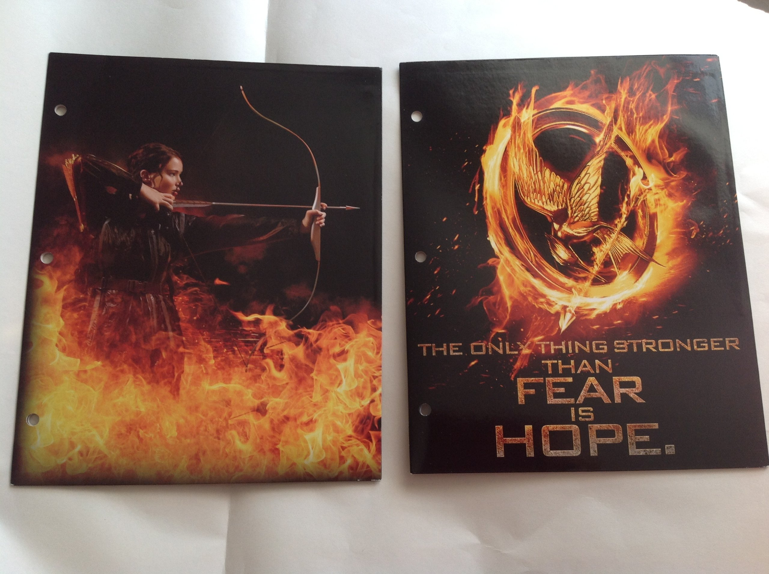 Hunger Games Two School Paper Folders - Archery Katniss and Mockingjay