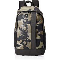 adidas unisex Linear Logo Backpack, Black/Camo