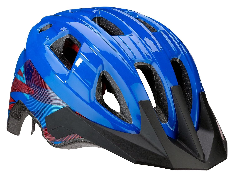 Mongoose Boys Zone Helmet, Blue Lines