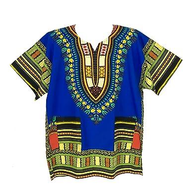 3c0343ed06e878 Amazon.com: Vipada's Dashiki Shirt African Top Men's Dashiki (Blue ...
