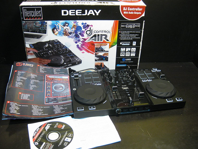 MESA DE MEZCLAS HERCULES DJ CONTROL AIR / 2 DECKS / 96 COMANDOS MIDI / PORTATIL: Amazon.es: Electrónica