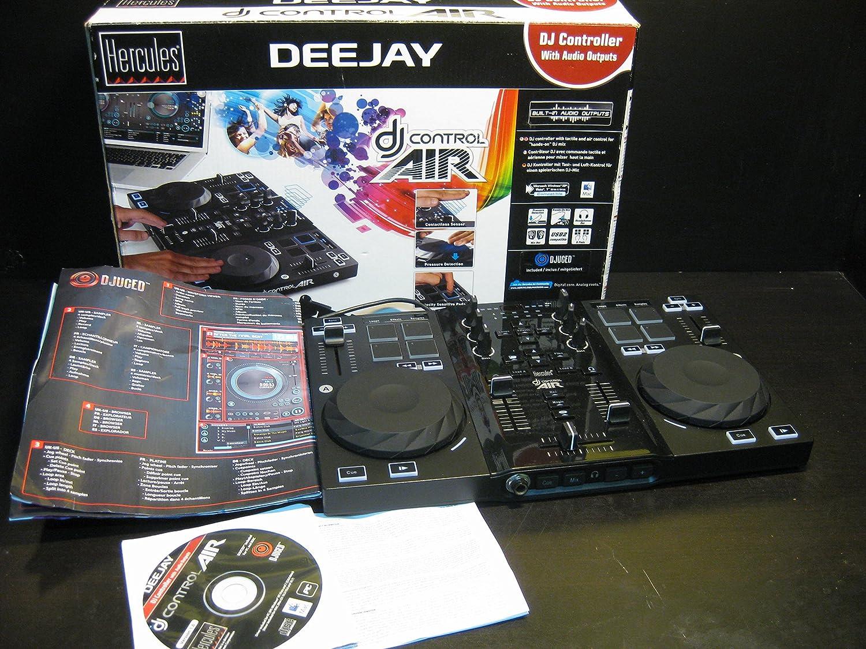 MESA DE MEZCLAS HERCULES DJ CONTROL AIR / 2 DECKS / 96 COMANDOS ...
