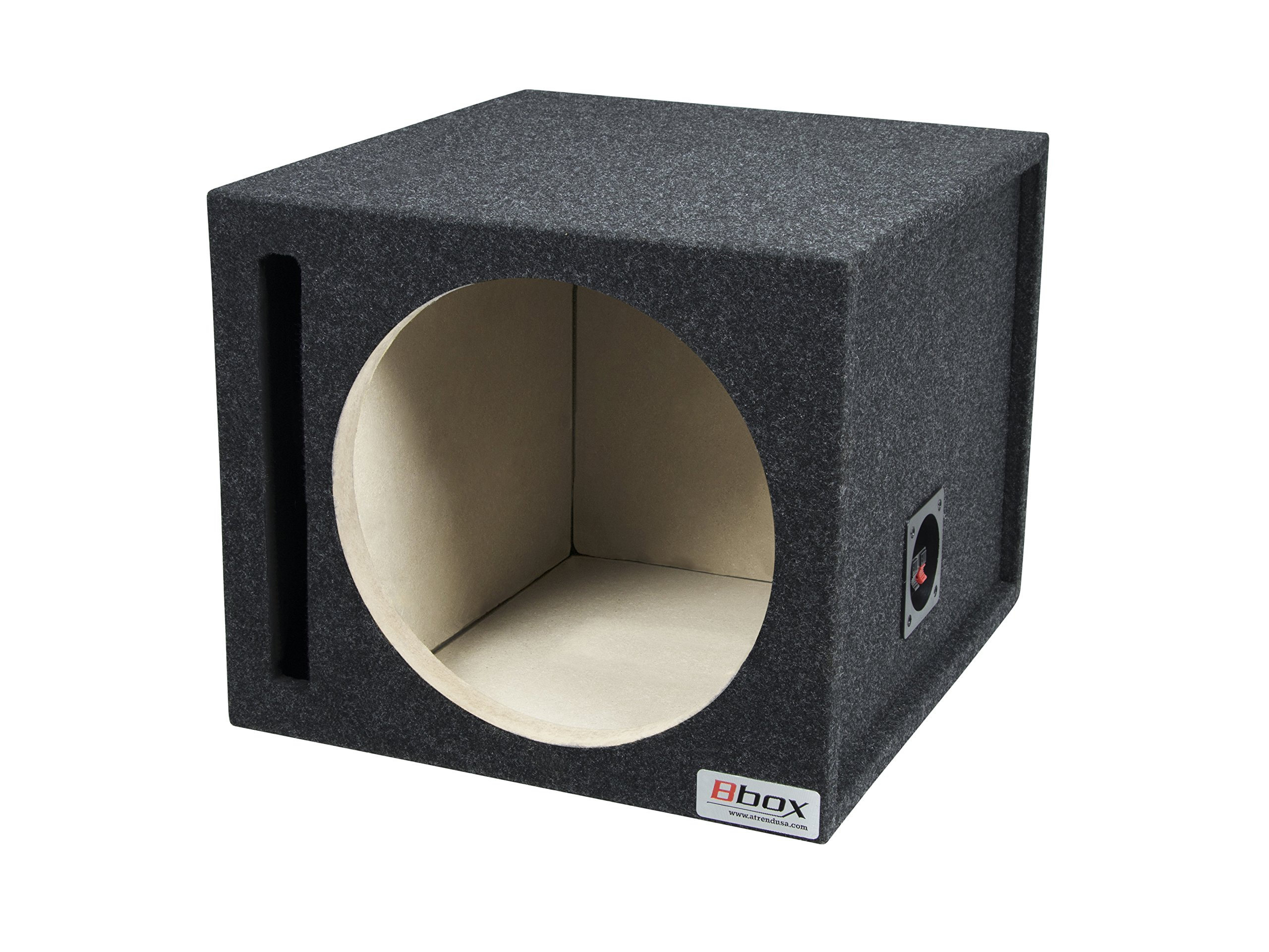 BBox E12SV Single 12'' Vented Carpeted Subwoofer Enclosure by Atrend