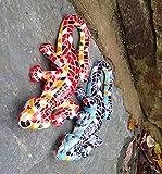 Coloré en résine peut se fixer au mur Mosaïque Lézard Gecko pour décoration de jardin Rouge