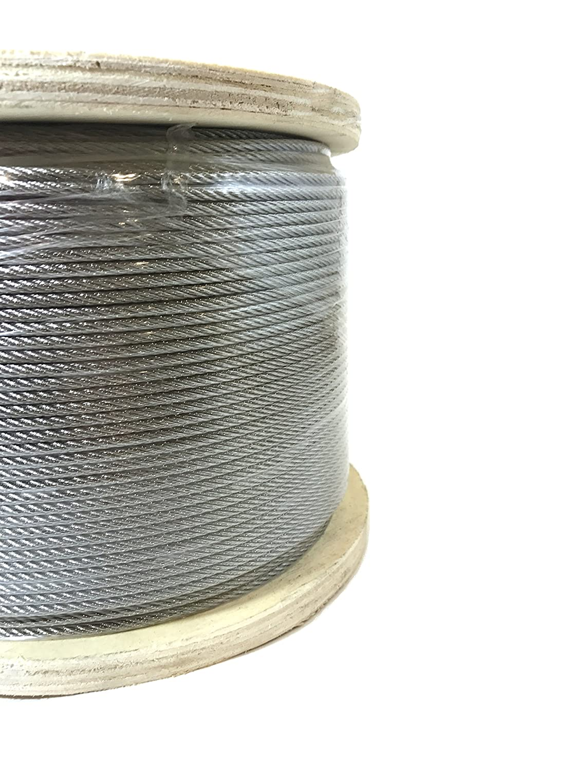 Image of 1/8' 7x7 Stainless Steel Cable Type 316 Marine Grade 1000ft Reel Cable & Wire Rope