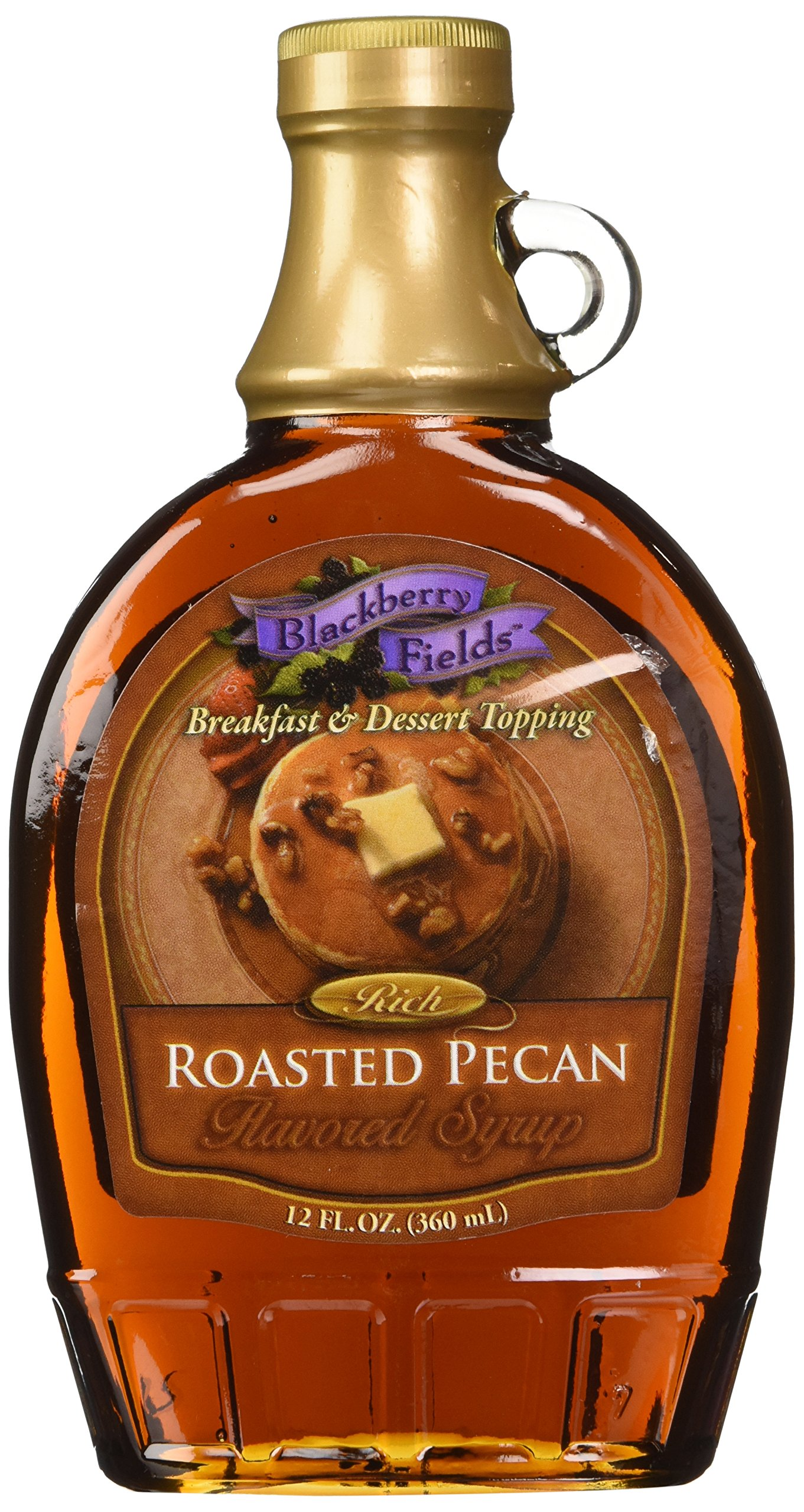 Blackberry Fields Rich Roasted Pecan Syrup 12 Oz