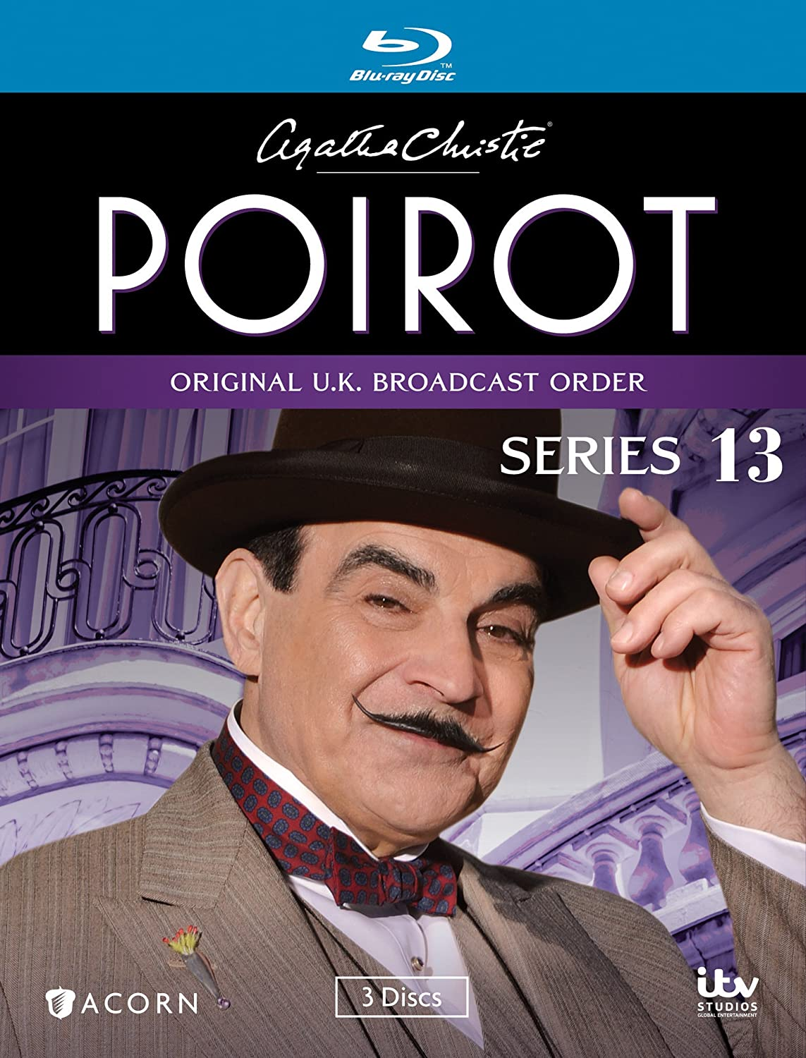 Agatha Christie S Poirot Series 13 Blu Ray David Suchet Hugh Fraser Philip Jackson Pauline Moran Movies Tv