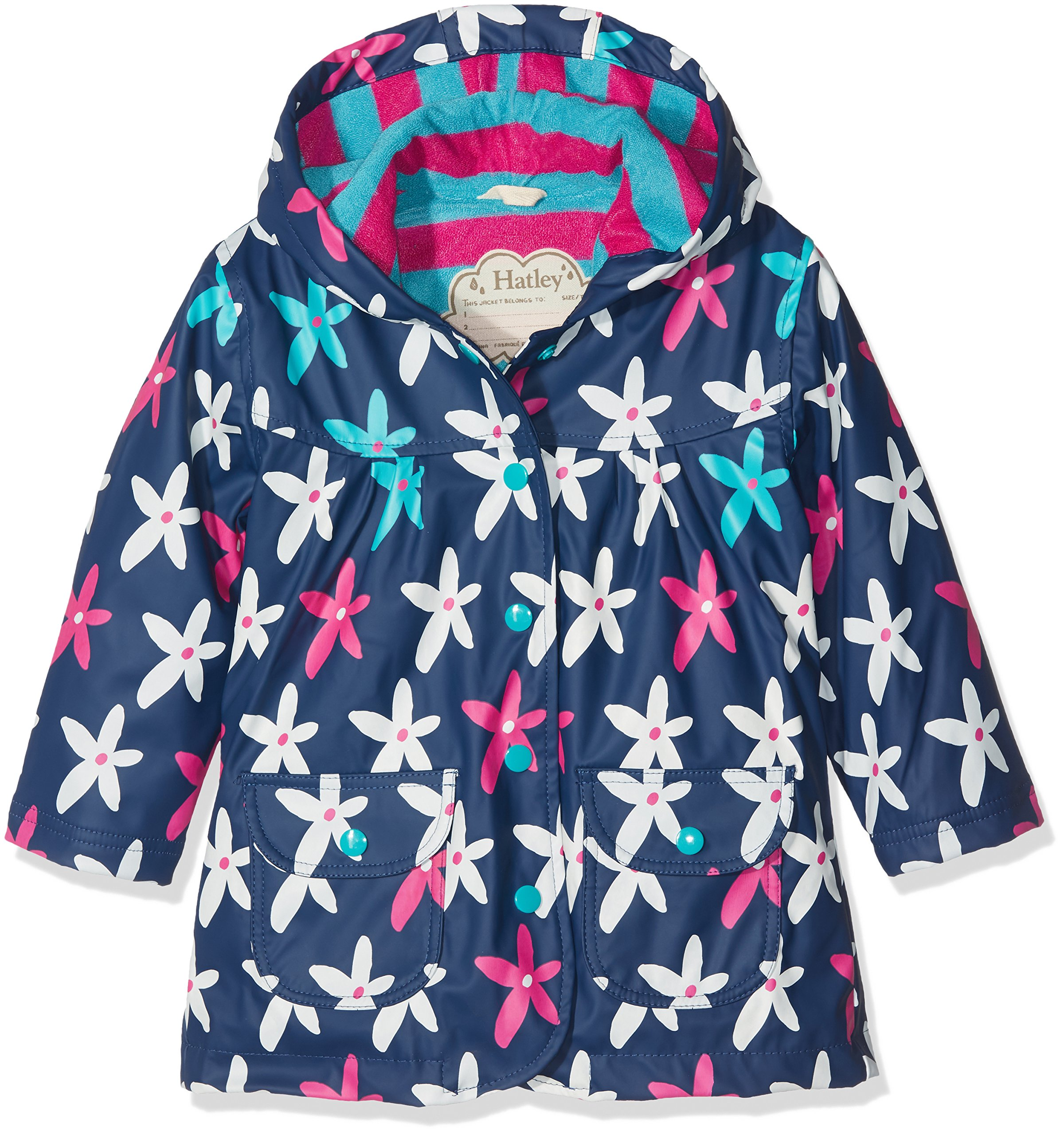 Hatley Girls' Little Printed Raincoats, Starflower, 2