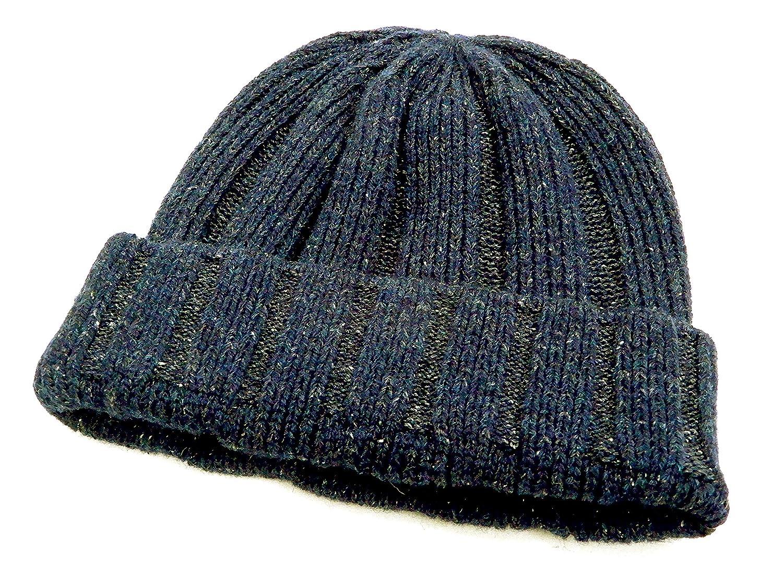 64c5fe8ad Pherrow's Watch Cap PSWC1 Men's Silk Wool Blend Ribbed Knit Hat 18W ...