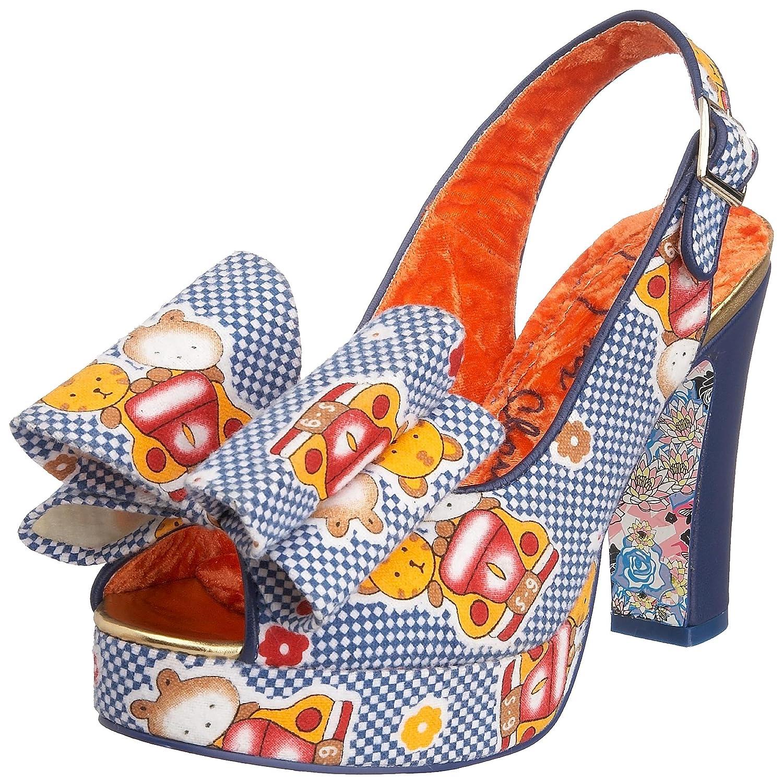 f0a6d6e7d Irregular Choice Women s Itsy Bitsy Betsy Peep-toe Heel Blue check teddy  3784-1D 7.5 UK  Amazon.co.uk  Shoes   Bags